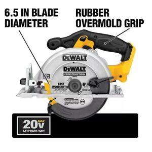 DEWALT 20V 6-1/2-inch MAX Lithium-Ion Cordless Circular Saw (Tool-Only)
