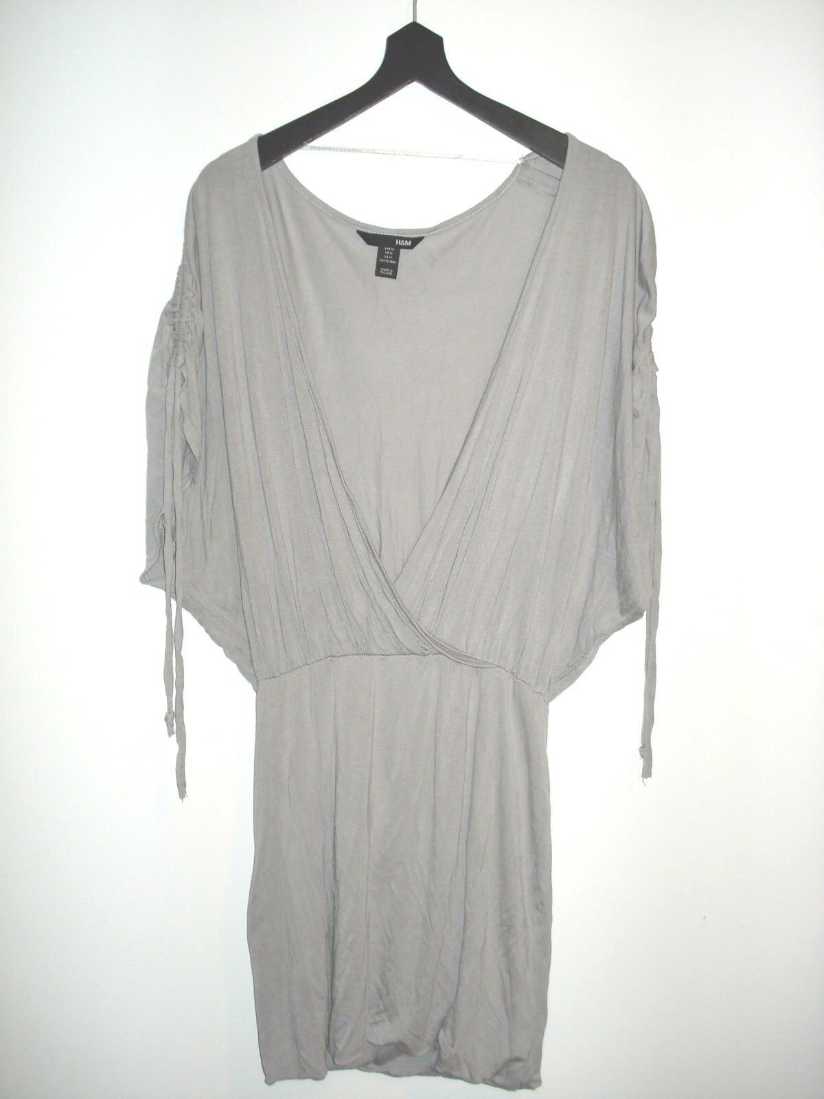 H&M Dress Tunic LOW Open FRONT Light grau Größe M Free Shipping