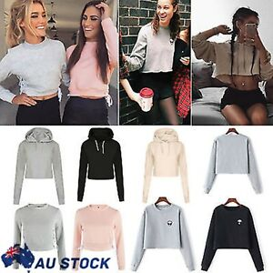 Women-Long-Sleeve-Hoodie-Sweatshirt-Jumper-Sweater-Tops-Sport-Tracksuit-Pullover