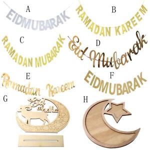 Eid-Ramadan-Moubarak-argent-alphabet-banniere-Bunting-bricolage-Hanging-Party-Plateau-decor