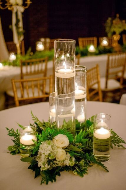Gl Table Centerpiece Candle Holders