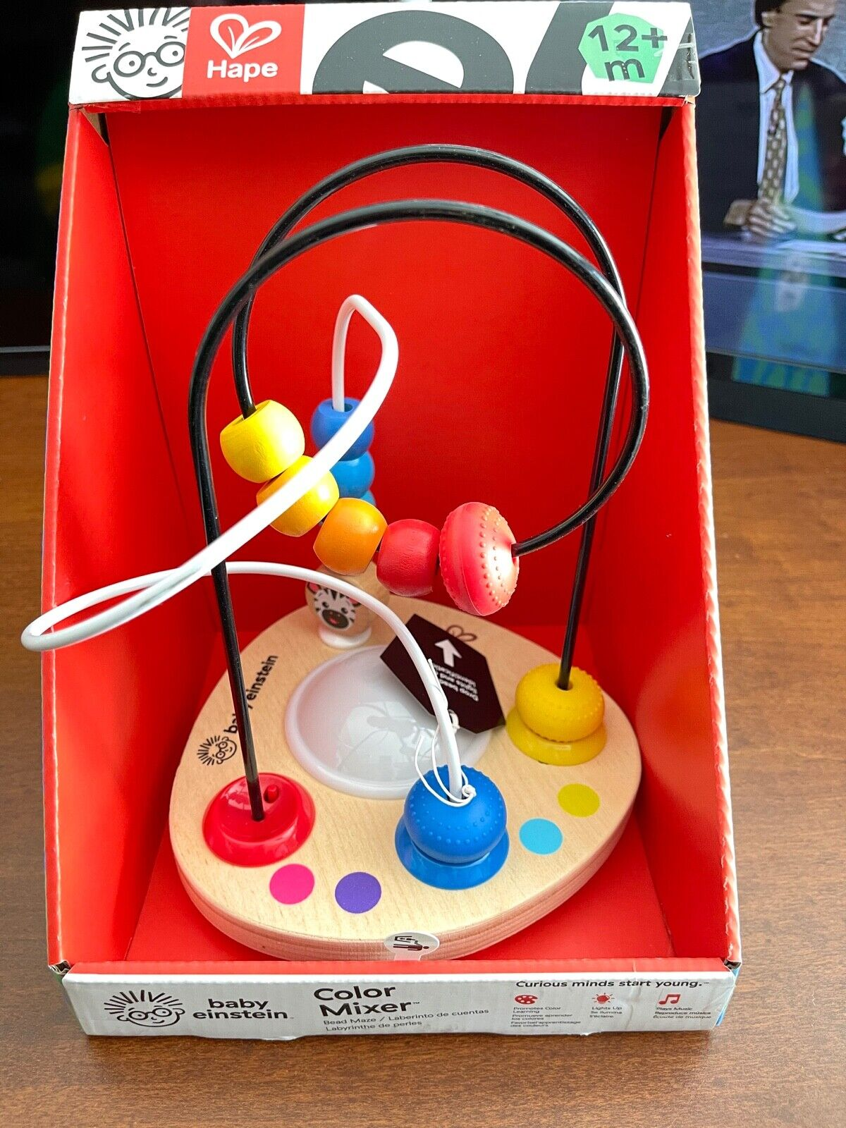 Ages 12 months and up Baby Einstein Color Mixer Wooden Bead Maze Toddler Toy