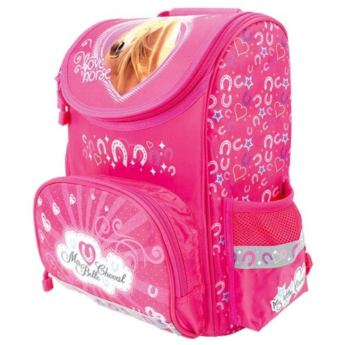 Gym Bag NEW PONY HORSE School Bag Backpack Double Tier Filled Pencil Case
