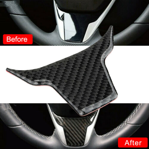 1X ABS Carbon Fiber Style Steering Wheel Cover Trim For Honda Civic 2016-2017 3w