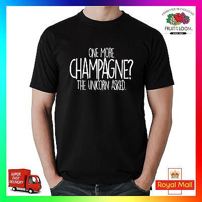 One More Champagne Unicorn T-shirt Tee Tshirt Gift Mens Ladies Funny Cheeky Cute