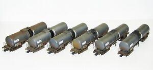 Roco-H0-75972-Kesselwagen-Set-GATX-gealtert-6-teilig-NEU-OVP