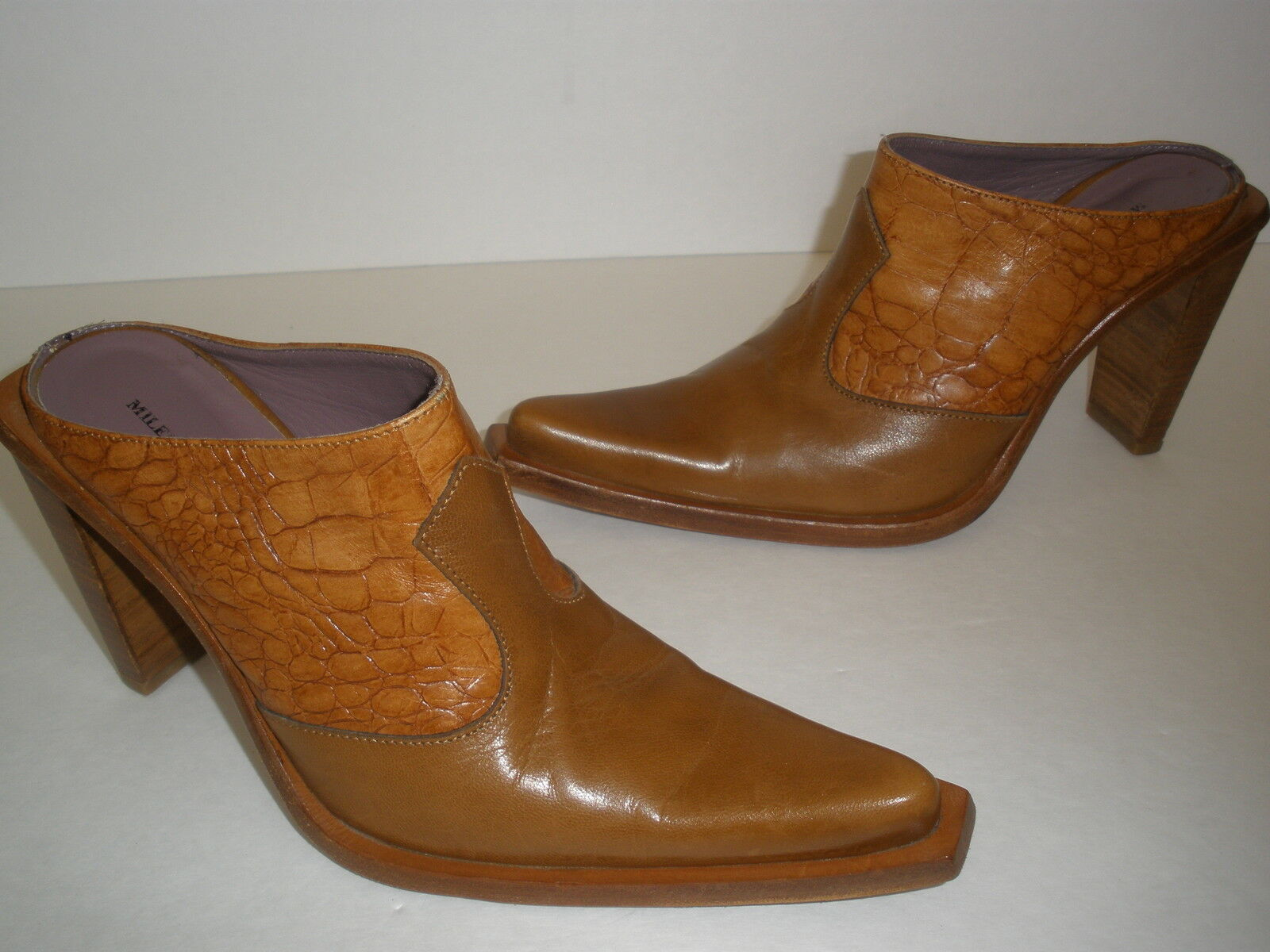 prezzo basso GORGEOUS MILENA ALL  LEATHER LEATHER LEATHER WESTERN HEELS  4  Dimensione US 7  SEXY  MADE IN ITALY  disponibile