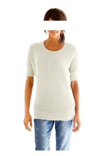 redondo cuello suéter linea Tesini 50/% poliacrílico Jersey talla 46 50/% algodón