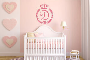 Personalized-Initial-Princess-Baby-Girl-Nursery-Wall-Decal-Decor-Room-X-Large