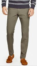 NWT $98 BONOBOS Congo OLIVE Washed STRETCH Chinos STRAIGHT FIT Pants 34x32