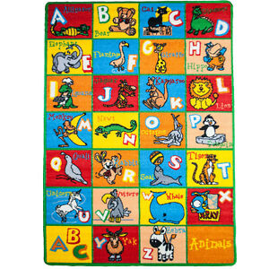 Large Classroom Rugs For Kids Alphabet ANIMAL New Design