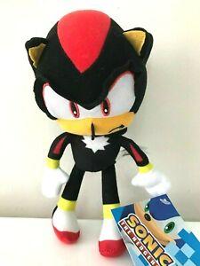 New-Large-Sega-Sonic-The-Hedgehog-Video-Game-12-034-Shadow-Black-Plush-Stuffed-Toy