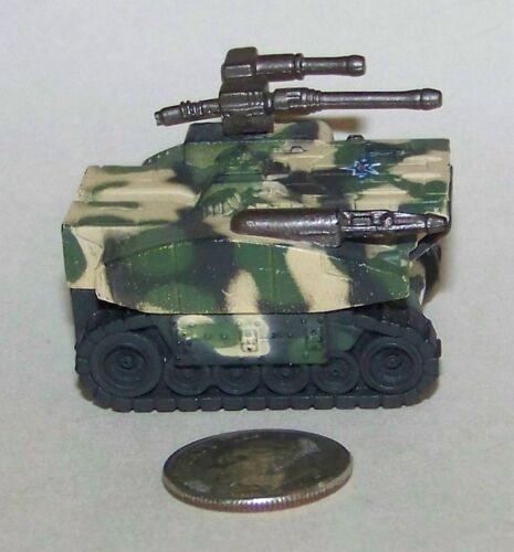 Small  Micro Machine Plastic Zephyr T-30 FuturisticTank in Green//TanCamo