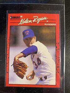 NOLAN RYAN 1990 DONRUSS #166 ERROR CARD NO DOT AFTER INC ERROR