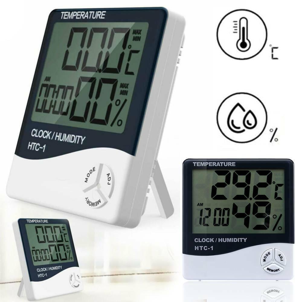 Thermometer Indoor Digital LCD Hygrometer Temperature Humidity Meter Alarm Clock