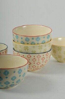 Wunderschöne Keramik Schale Schüssel Greta, Shabby Landhaus, 3 Farben