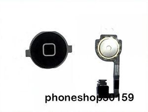 APPLE-IPHONE-4-4G-NERO-HOME-BUTTON-CAVO-FLESSIBILE-PULSANTE-HOME-NUOVO
