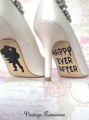 Ariel Y Eric De La Sirenita Disney suela de zapatos de novia de boda Etiqueta de vinilo