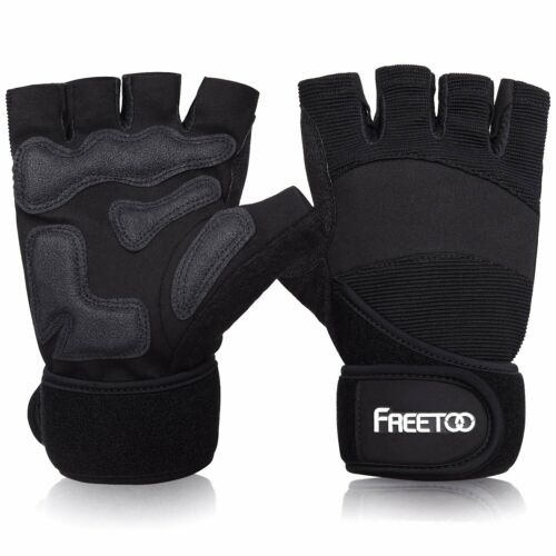 FREETOO Gants Sport de Fitness Musculation Anti-dérapant Respirant Taille L