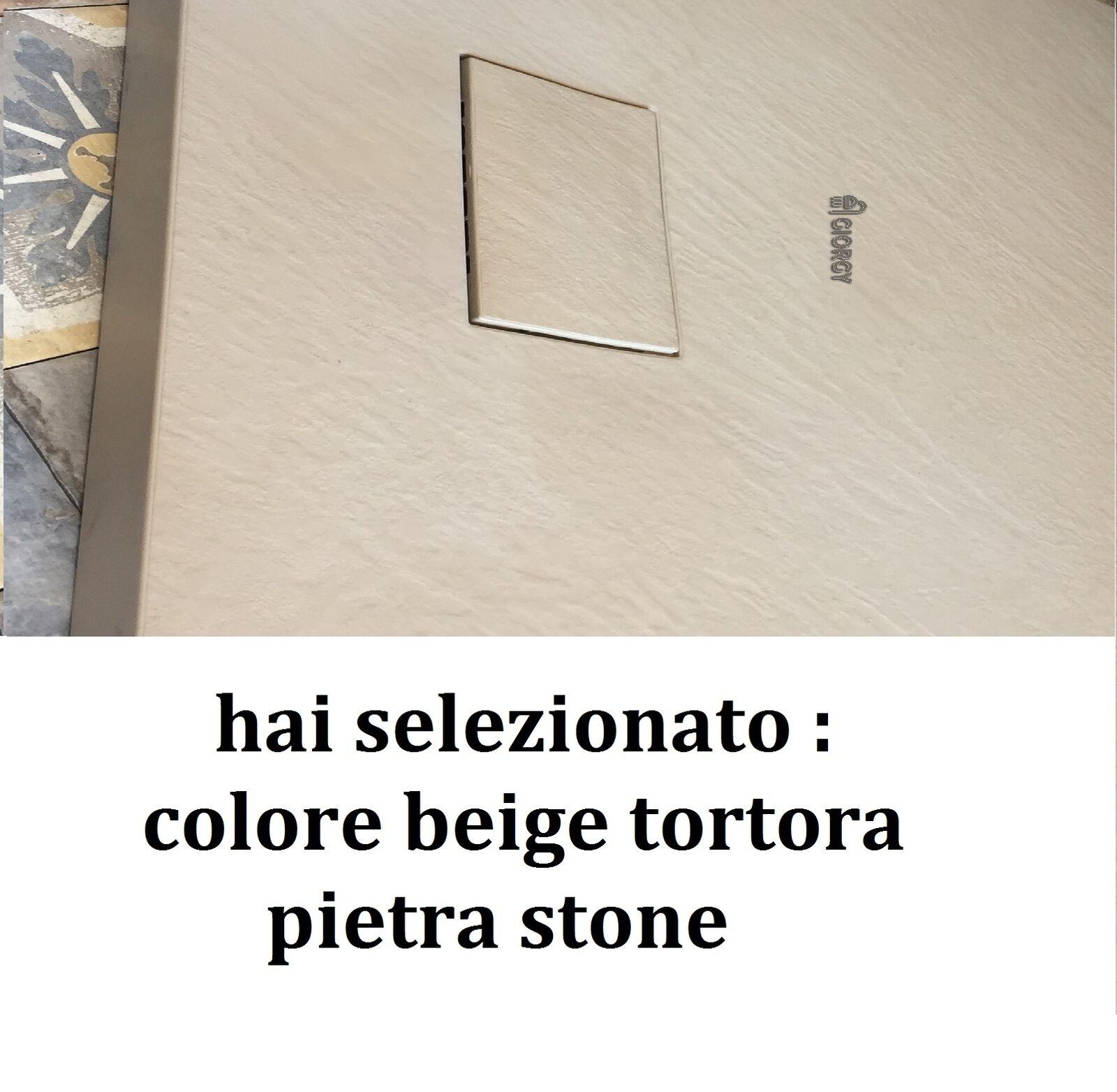 s l1600 - Plato de Ducha Efecto Piedra Pizarra Resina Smc 70 80 90 100 120 140 160 170 2.6