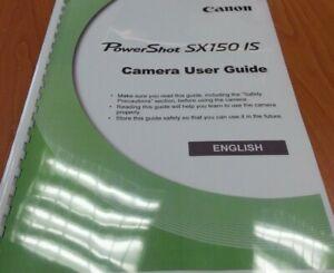 Canon POWERSHOT SX150 è stampato il manuale di istruzioni guida utente 200 pagine A5