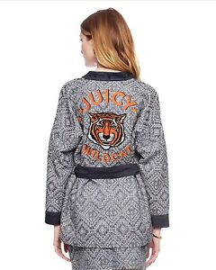 378-JUICY-COUTURE-Rio-Jacquard-Belted-JACKET-034-Juicy-Wildcat-034-Tiger-XS