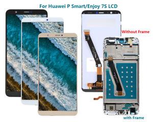 Pour-Huawei-P-Smart-Enjoy-7S-Ecran-LCD-TACTILE-Remplacement-FRAME-NOIR-AR02FR
