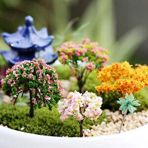 miniatur sakura baum pflanzen fairy garten zubeh r puppenhaus ornament dekor ra ebay. Black Bedroom Furniture Sets. Home Design Ideas