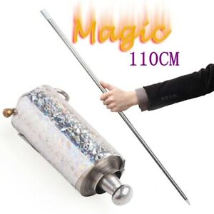 Portable Magic Pocket Staff Martial Art Metal Staff Stainless Magic Wand Toy AU