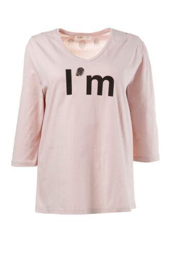 ULLA POPKEN FASHION Shirt mit Fingerprint helles mauve NEU