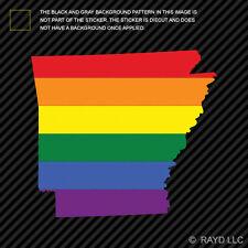 Arkansas State Shaped Gay Pride Rainbow Flag Sticker Vinyl Decal LGBT AR