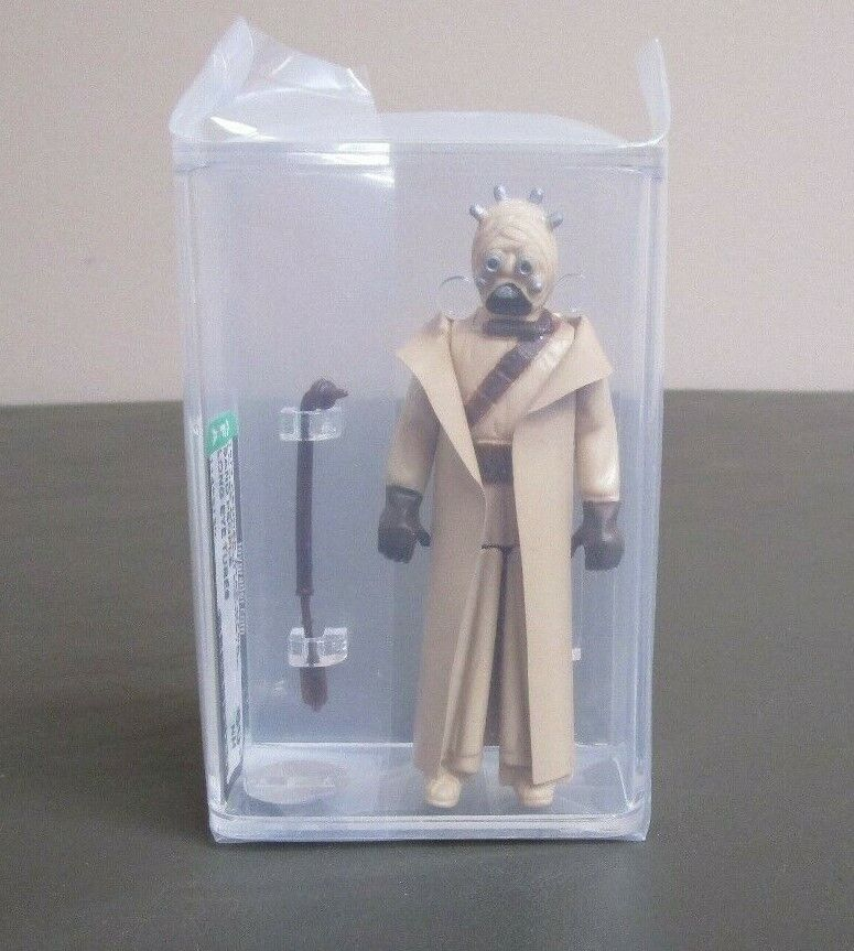 Sand People Tusken Raider Star wars classés AFA 80+ Presque comme neuf Long Eye Tubes JJ NEW CASE