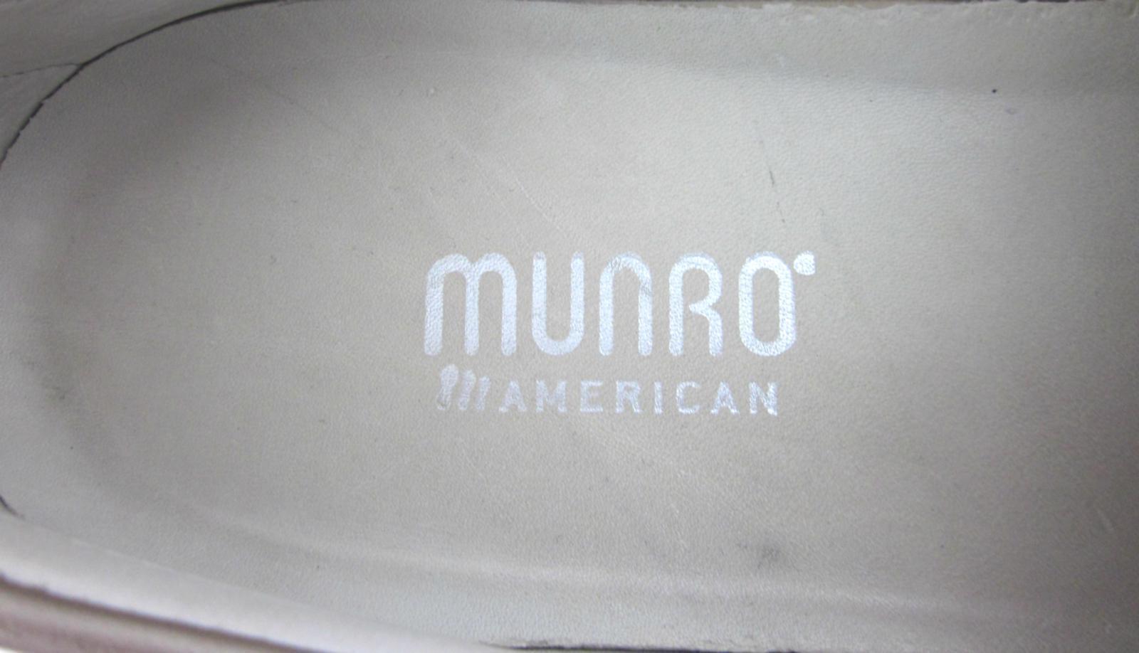 Munro American Kimi 'Moc Toe Bit Mocasines De Cuero Cuero Cuero Metálico Gris Topo US 10.5 ab6342