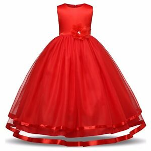 Party Wear Girls dresses Red summer