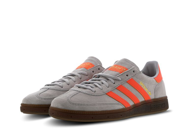 Mens Adidas Originals Handball Spezial Trainers grau Orange Gold EE5729 UK 7.5
