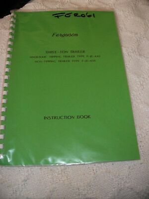 Other Ferguson Trailer Instruction Book ................................... Manual Pure And Mild Flavor