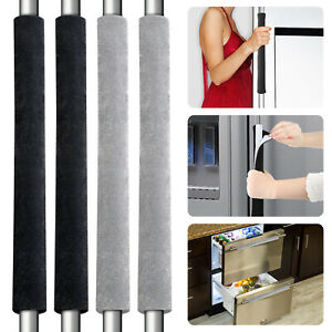 2-Pack Refrigerator Door Handle Cover Kitchen Appliance Protector Smudges Decor