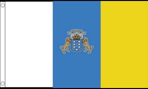 Canary Islands Spain Spanish 5ft x 3ft Flag 150cm x 90cm
