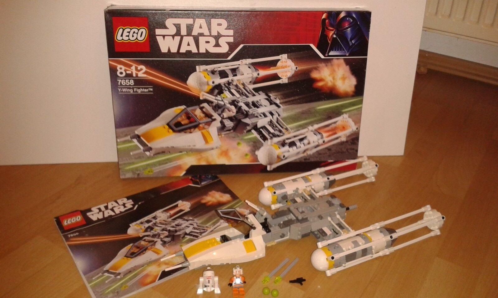LEGO Star Wars Y-wing Fighter 7658 - Vollständig OBA OVP und Figuren