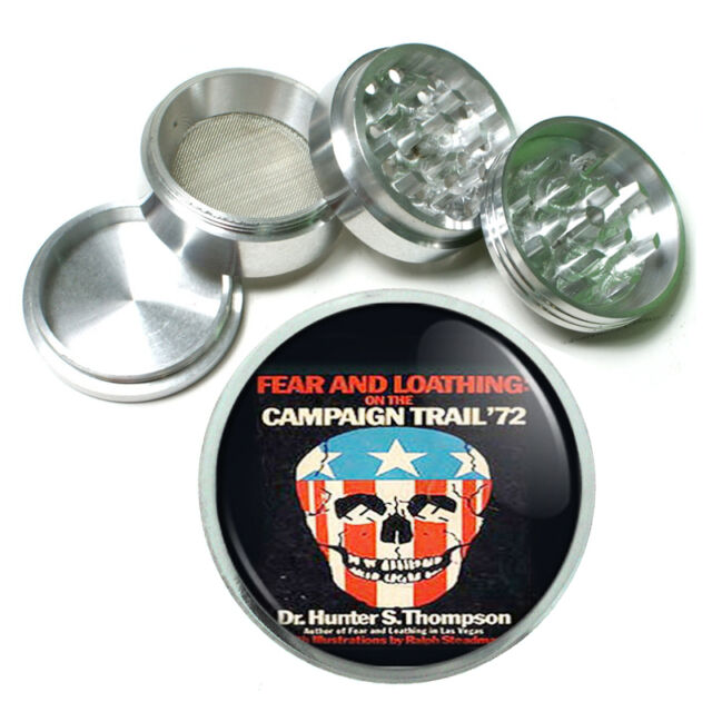 Hunter Fear Loathing Campaign Metal Silver Aluminum Grinder D78 63mm Herb Spices