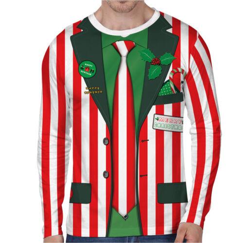 spullover Herren Karneval Sweatshirt Sweater Pulli Party 3D Hemd Tops