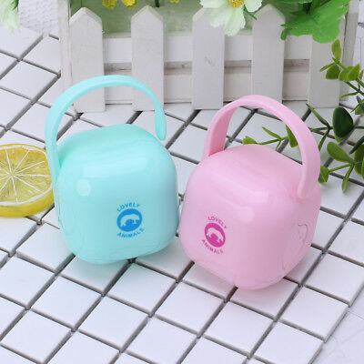 Baby Pacifier Box Storage Case Handle Newborn Soother Container Holder Portable