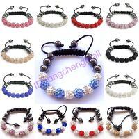 NEW Shamballa Bracelet 9 Clay Crystal Disco Balls Shambala Bracelets XMAS GIFT