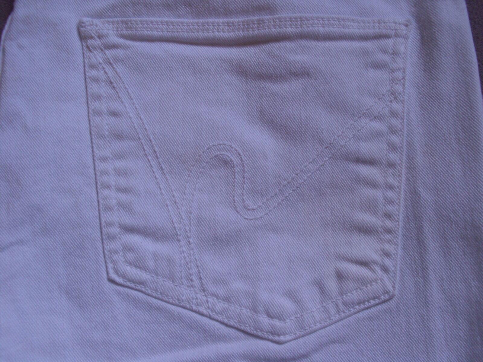 CITIZENS OF HUMANITY WOMENS THOMPSON WHITE MID RISE CROPPED SKINNY JEANS SIZE 31