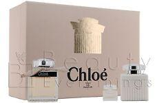 Chloe 3PC Gift Set by Chloe 2.5oz EDP + 3.4oz B/L+ 0.17 EDP NIB For Women