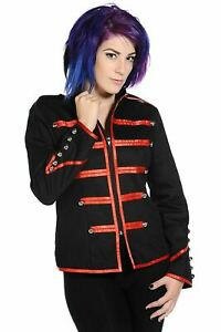 PUNK-STAGEWEAR-Banned-Military-Drummer-Red-Jacket-XS-UK-8