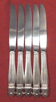 "4 Holmes /& Edwards Danish Princess Pattern Silverplate Flatware 9/"" Dinner Knives"