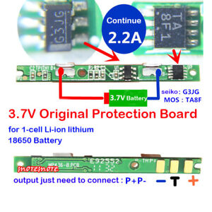 1S 3.7V 2A BMS Protection PCB Board for 1 Pack 18650 Li-ion Lithium Battery Cell