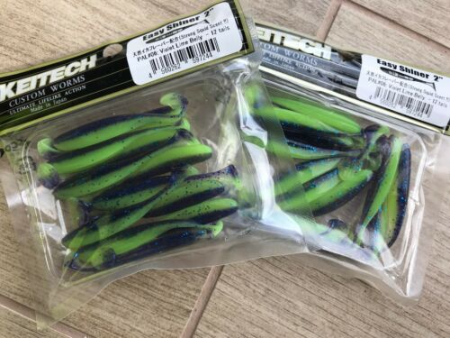 """KEITECH Lures Easy Shinner 4.5/"""" 6pcs JAPAN Strong Squid scented Drop Shot jig"""