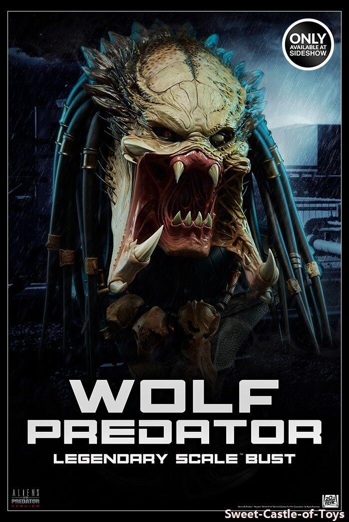 1 2 Alien Vs. Deprojoador-Sideshow R Alien Deprojoador Requiem Wolf Deprojoador legendario Busto 2002502